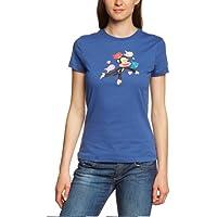 Paul Frank - Camiseta de running para mujer, tamaño S, color azul
