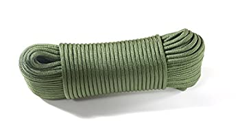 Dyd Strong Rope Parachute Rope (30 M, 375 Kg Heavy Duty) Us Military Standard 5040h Type Iv 750 Paracord Parachute Cord Mil C), Green 1