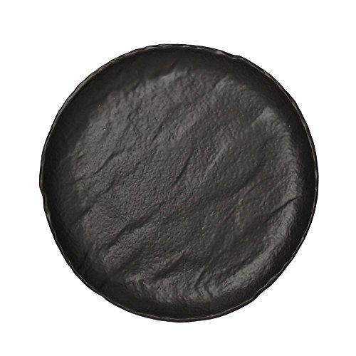 Assiette gourmet cm.26 en porcelaine noire Saturnia Vulcania