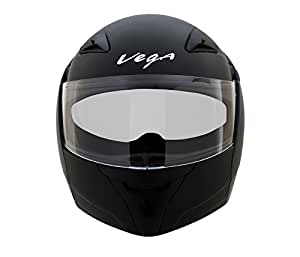 Vega Boolean BLN-K-M Flip-up Helmet with Double Visor (Black, M)