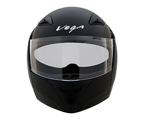 Vega Boolean BLN-DK-L Flip-up Helmet with Double Visor (Dull Black, L)