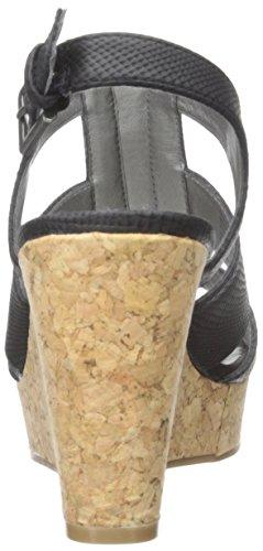 White Mountain Dharma Damen Kunstleder Keilabsätze Sandale Black