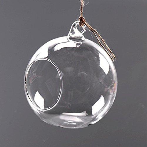 gladle 1 pieza claras redondas Hängende Votive Vela soporte/cristal O