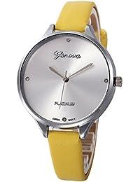 Reloj Mujer Analogico Damas Casuales De Imitación De Cuero De Cuarzo  Analógico Reloj De Pulsera Ye 283a7d8b866e