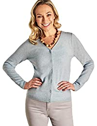 3aebe66d3518 Woolovers Womens Cashmere Merino Classic V Neck Cardigan