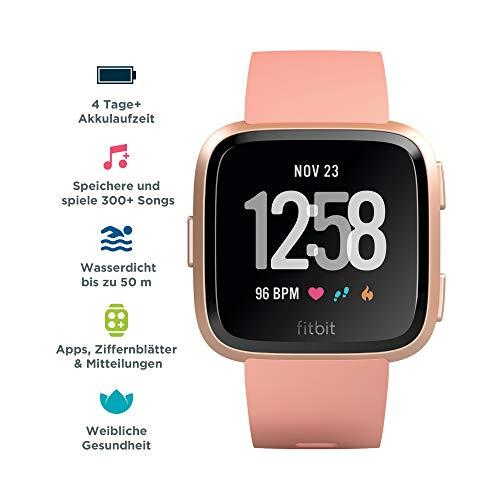 Fitbit Versa Health & Fitness Smartwatch, pfirsich, One Size, FB505RGPK-EU - 2
