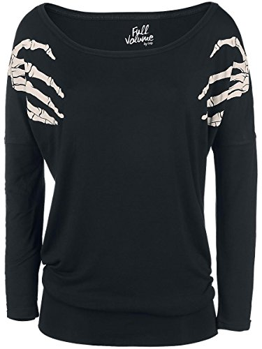Full Volume by EMP Skeleton Hands Ladies Tee Manica lunga donna nero XXL