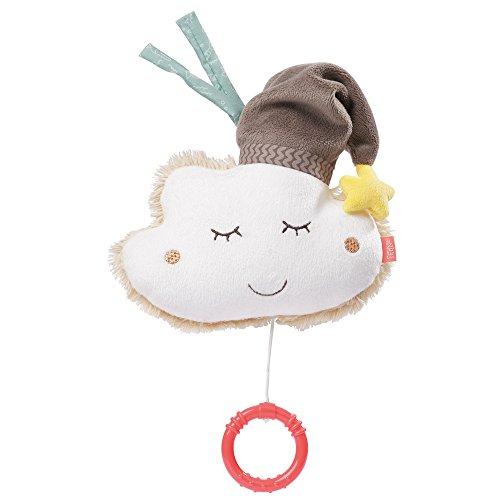 Fehn 060133 Spieluhr Wolke – Aufzieh-Spieluhr mit herausnehmbarem Spielwerk – Für Babys und Kleinkinder ab 0+ Monaten – Maße: 14 cm