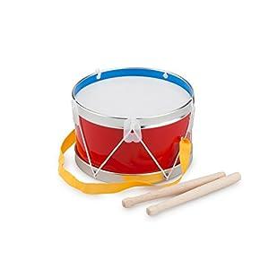 New Classic Toys Toys-10360 10360 Instrumento Musical de Juguete, Tambor, 2 año(s), Niño/niña, Alrededor, Rojo, Plata, Blanco, Color Madera