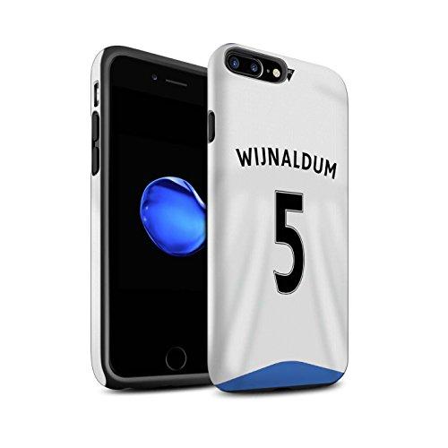 Offiziell Newcastle United FC Hülle / Matte Harten Stoßfest Case für Apple iPhone 7 Plus / Tioté Muster / NUFC Trikot Home 15/16 Kollektion Wijnaldum