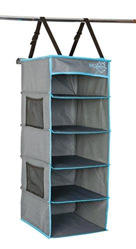 Bo-Camp - Organizador Multifuncional para Tienda de campaña, 5 Compartimentos, Color Gris