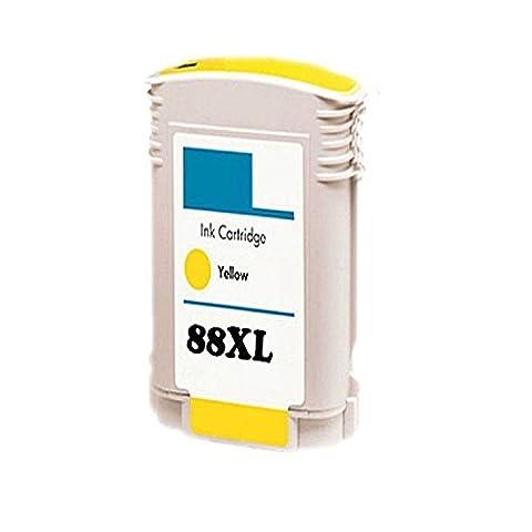 Perseus® Cartouche d'Encre pour HP 88XL Jaune/Yellow C9393AE Grande capacité Replacement Compatible