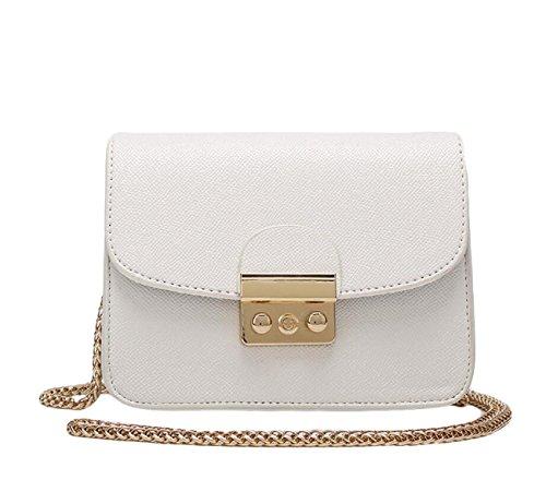 Piccola Custodia Signora Messenger Bag Pacchetto Quadrato Mini Pacchetti Per Natale White