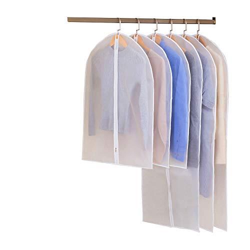 Bespick Kleidersack Anzug Aufbewahrung Kleiderschutzhülle Anzughülle Staubdicht Kleiderhülle Anzugsack - Erstklassiger Schutz Aufbewahrung für Anzüge und Kleider(6 Stücke)