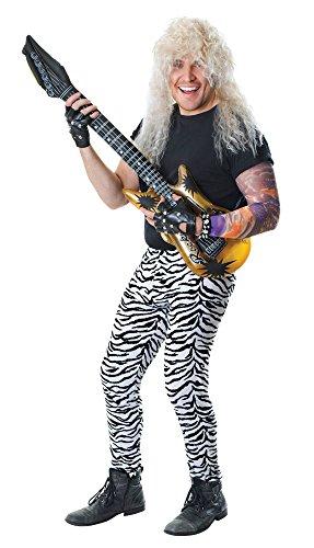 Mens Zebra Print Trousers Adults Fancy Dress Costume Accessory (Disco Themed Kostüm Ideen)