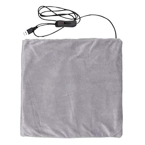 MOXIN Wärme-Cape, Elektrisches USB-Heizkissen, Beheizte Flanelldecke, Weiche Heizdecke Winter, Für Kalte Hände Und Füße, Kalter Körper,Grau,45 * 45cm