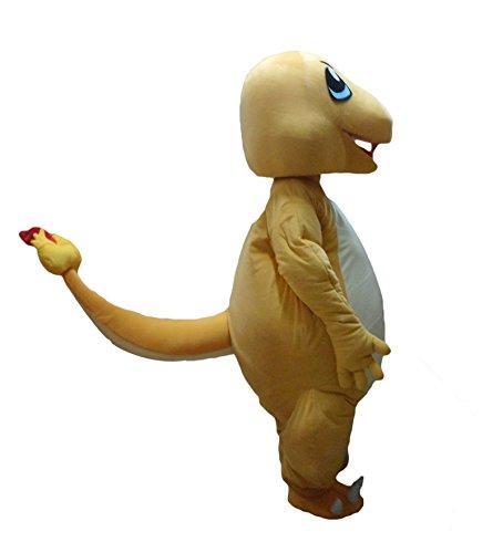 da Little Fire Dragon Pokemon Halloween Maskottchen Kostüm für Erwachsene Fancy Dress Outfit (Pokemon Maskottchen Kostüm)