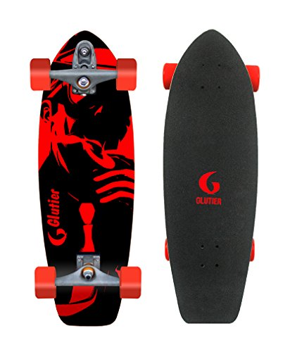 Surfskate GLUTIER with T12 surf skate trucks Mafia Gansta 31 red