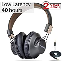Avantree 40 horas Auriculares Inalambricos TV, Over Ear Bluetooth Diadema Auriculares con micrófono, APTX