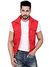 ABC Garments Red Casual Jacket for Mens