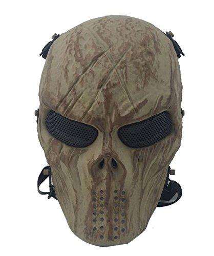 ADOO Ghost Skull Airsoft Vollmaske Military Halloween Kostüm Skeleton Sand