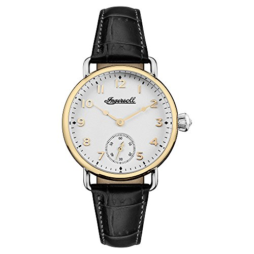 Ingersoll Men's The Trenton Quartz Watch with White Dial and Black Leather Strap I03602