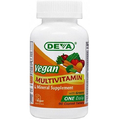 Deva Vegan Vitamins Tägliche Multivitamin & Mineral Nahrungsergänzungsmittel 90Tabletten (2Stück)