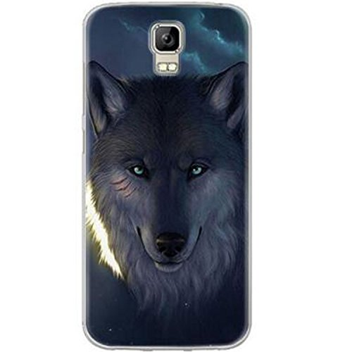 Yrlehoo Für UMI Rome/UMI Rome X 5.5 Zoll, Premium Softe Silikon Schutzhülle für MI Rome/UMI Rome X 5.5 Zoll Tasche Case Cover Hülle Etui Schutz Protect, Wolf