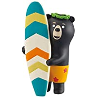 Figura de oso con tabla de surf de Japón