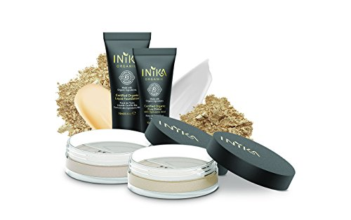 INIKA Loose Mineral Foundation Trial Pack, Light Tones