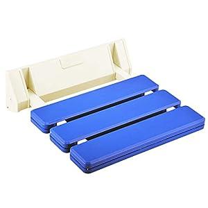 Makidar Duschklappsitz Klappsitz Duschsitz Duschstuhl (Blau)