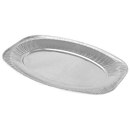 Lot de 10 plats en aluminium 55,8 cm-Lot de 10 barquettes, Buffet, plats, des plateaux