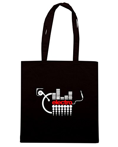 T-Shirtshock - Borsa Shopping TR0042 Electro Music T-Shirt Nero