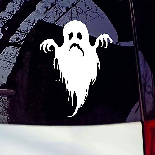 6 * 15,4 Cm Scary Ghost Halloween Auto Lkw Fenster Laptop Aufkleber Auto Aufkleber Auto Styling ()