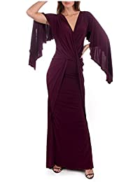 Kevan Jon Cyclone Backless Ball Dress Purple