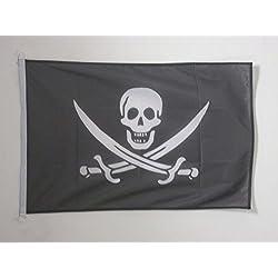 Bandera pirata del capitán Jack Rackham 90 x 60 cm.