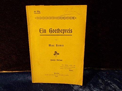 Ein Goethepreis