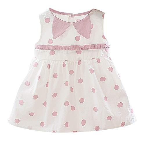 Gyrate Dream Sommer Casual Baby Mädchen Dot Muster Kleid Kinder Kleinkind ärmellose Prinzessin Kleid - Casual Dots-muster