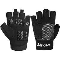 8dbb9f5eb99f7b Trideer Damen Fitness Handschuhe für Hand Schutz Grip, Atmungsaktiv  Trainingshandschuhe für Bodybuilding, Krafttraining und