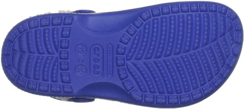 Crocs Baya Lined Kids, Sabots mixte enfant Bleu (Sea Blue/Oatmeal)