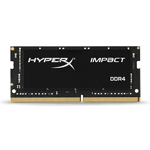 HyperX Impact - Memoria RAM de 16 GB (DDR4, 2400 MHz, CL14, SODIMM, XMP, HX424S14IB/16) Color Negro