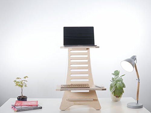 Cheap Humbleworks Stan1 | Height adjustable STANDING DESK for LAPTOP users | 100% premium plywood | SIT-STAND DESK convertor | Made in Britain on Amazon