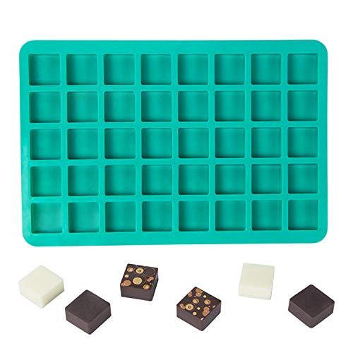 Webake Süßigkeitenform Schokoladenform 40 Mulden Karamell Süßigkeitenform Eiswürfelform Brownie Quadrate Backformen für selbstgemachte Karamell Hartbonbons Schokolade Fett Bombe Praline Gummi -
