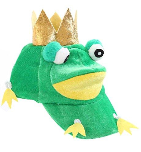 Mütze 'Frosch' lustige Mütze mit Glubschaugen und Krone, Froschkönig *NEU bei...