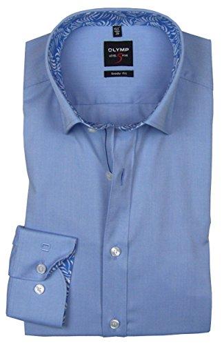 OLYMP Level Five Herren Hemd Body Fit Langarm Bleu