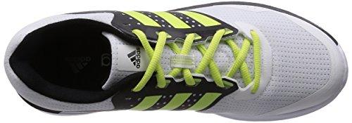 adidas Duramo 7, Running Homme Blanc (White/Semi Frozen Yellow/Core Black)