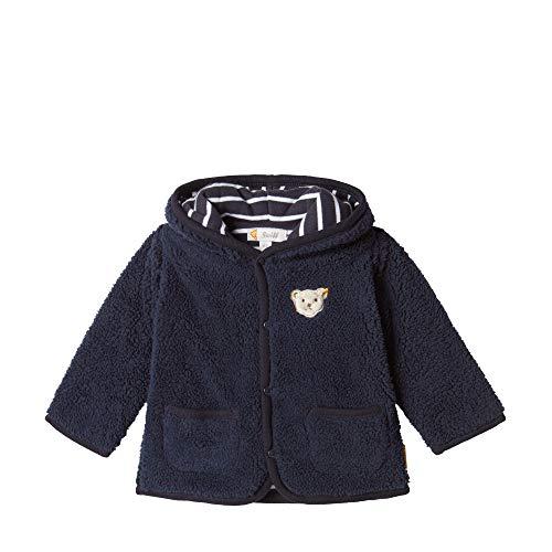 Steiff Baby-Jungen Fleece Jacket Sweatjacke, Blau (BLACK IRIS 3032), 74 (Herstellergröße:74)