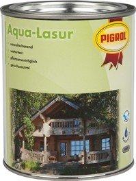Pigrol Aqua Lasur 2,5L teak umweltfreundliche Holzlasur für innen und aussen