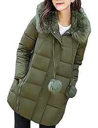 d8796c360f010 Amazon.es  Abrigo verde capucha pelo mujer  Ropa