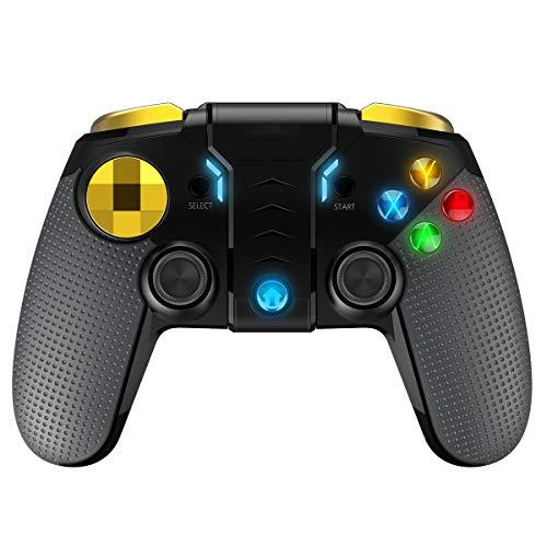 Controller, Vibration Feedback PC Controller Gaming Controller mit Turbo-Auslösetasten, Kompatibilität mit einziehbarem Klammerhalter für Windows PC 7, 8, 10, iOS, Android ()